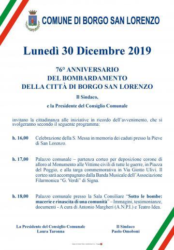 76 Anniversario Bombardamento Borgo San Lorenzo Borgo San